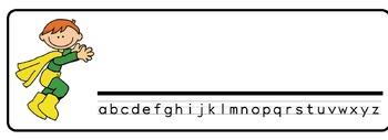 Superheroes Theme Desk Nameplates (Set of Four)