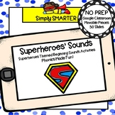 Superheroes Themed Beginning Sound Activities For GOOGLE C