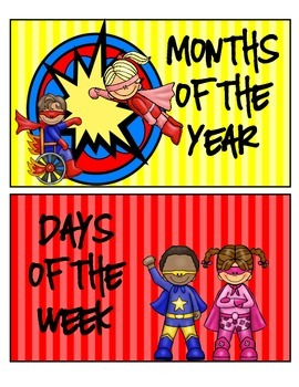 Superheroes Superman Calendar Set