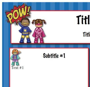 Superheroes Classroom Newsletter Template