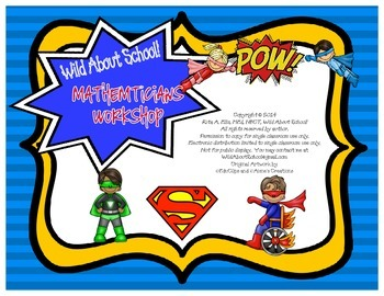 Superheroes Superman Mathematicians Workshop Posters