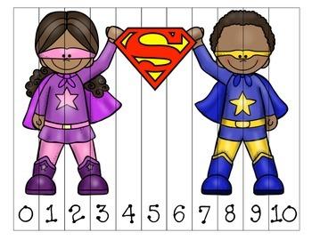 Superheroes Superman Sequencing Puzzles