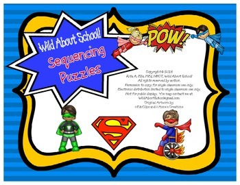 Superheroes Superman Sequencing Puzzles