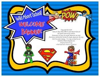 Superheroes Superman Welcome Banner