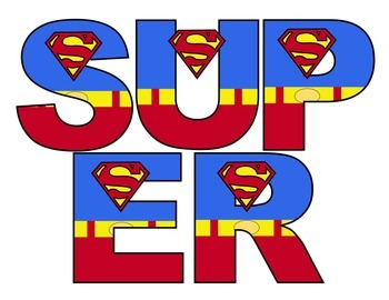 Superheroes Superman Word Wall Set