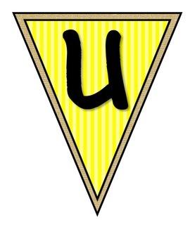Superheroes Pennant Banner Yellow