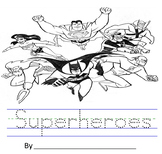 Superheroes Tracing (Adapted Book Printable)