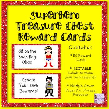 Superheroes Treasure Reward Coupons - 50 Rewards for Classroom Management