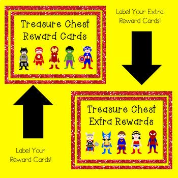 Superheroes Treasure Reward Coupons - 50 Rewards for Classroom Management