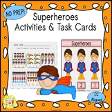 Superheroes Activities and Task Cards