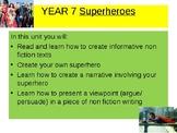 Superheroes  Unit of Work- Writing to Explain