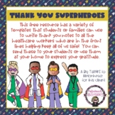 Superheroes Unite - Thank you Templates for Healthcare Workers