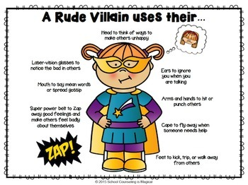 Superheroes Vs. Villains: kind vs. rude behavior