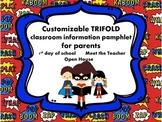 Superheroes Welcome Back Pamphlet for Parents