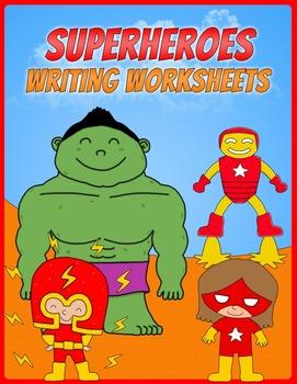 Superheroes Writing Worksheets
