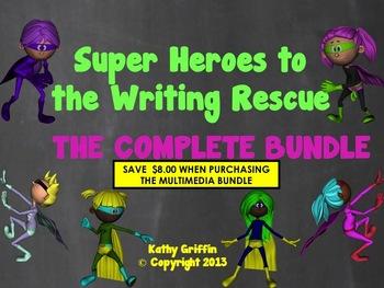 Superheroes Writing Video BUNDLE