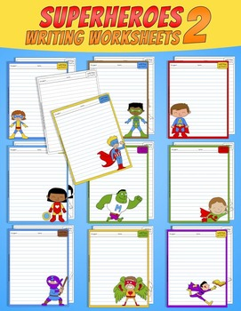 Superheroes Writing Worksheets - 02