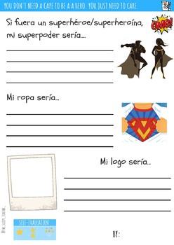 Superheroes and superheroines writing