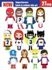 Superheroes back to school clip art-SALE%50