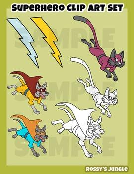 Superheroes clip art set