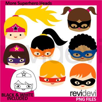 Superheroes clipart - More superhere heads clip art