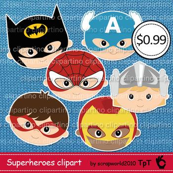 Superhero head clipart