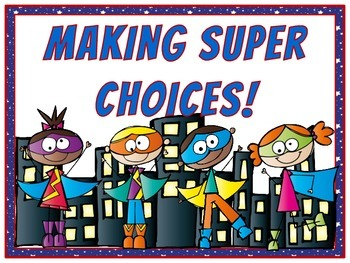 Superheroes in Training Behavior Clip Chart