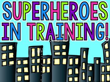 Superheroes In Training Editable Door Display By A