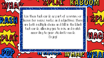 Parts of Speech Task Cards