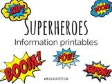 Superheroes set- Information Printables