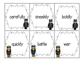 Superheroes to the rescue with adding -er and -est to base words