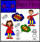 Super Hero Clip Art {Designs by Nawailohi}