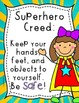 Superhero's  Creed: Classroom Rules Poster Set FREEBIE