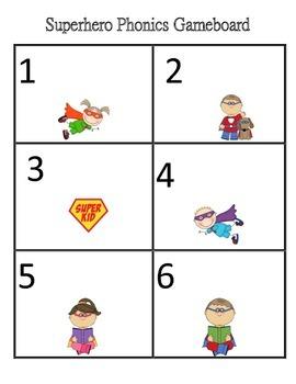 Superhero's First Grade Phonics Game