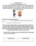 Superheros Four Food Groups Project