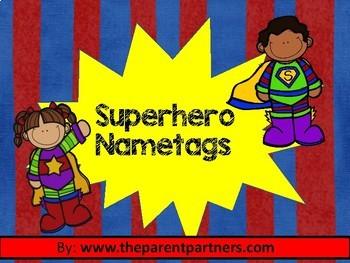 Superheros Name tags