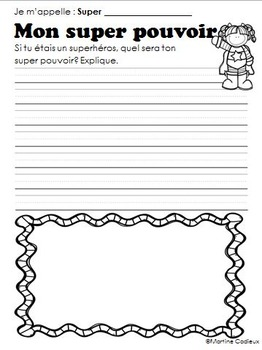 Superhéros fiches d'activités- Superhero Activity Sheets French