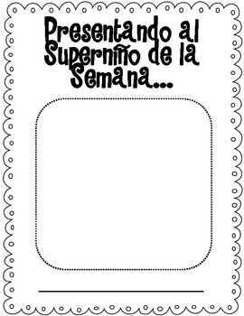 Superkid of the Week (Bilingual)