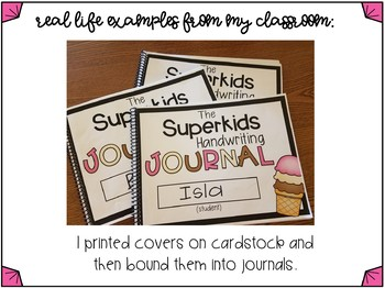 Superkids Reading Ice Cream Handwriting Journal