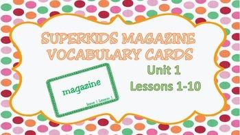 Superkids Magazine Unit 1 Vocabulary Cards