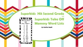 Superkids Memory Word Lists