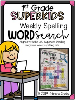 Superkids Reading Program: Weekly Spelling Word Searches