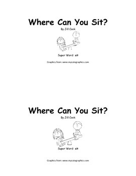 Sight Word Reader - sit