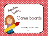 Superkids Spelling Words- Game Boards