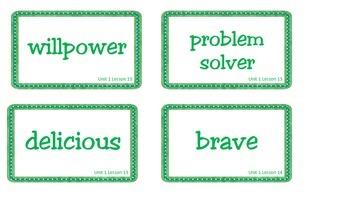 Superkids Unit 1 Book Club Vocabulary Cards