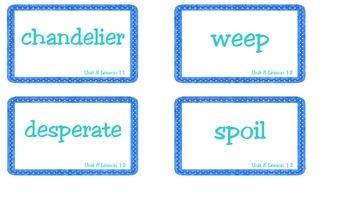 Superkids Unit 8 Book Club Vocabulary Cards