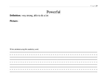 Superkids Vocabulary Book: Semester 1
