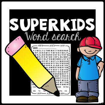 Superkids Word Search