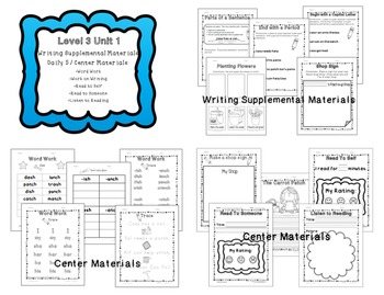 Superkids Writing and Center Materials Bundle:  First Grade, Level 3