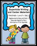 Superkids Writing and Center Materials:  First Grade, Level 4, Unit 1